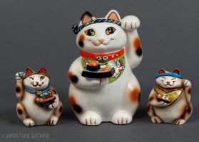 Sushi Cats sculptures by Reptangle