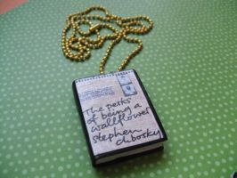 Perks of Being a Wallflower book necklace by InsaneJellyBean95