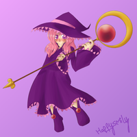 Cute Witch girl by happysmily