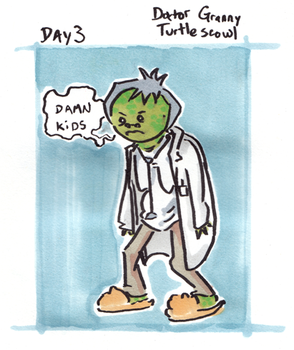 30 characters - day 3 - dr. granny turtlescowl by not-fun