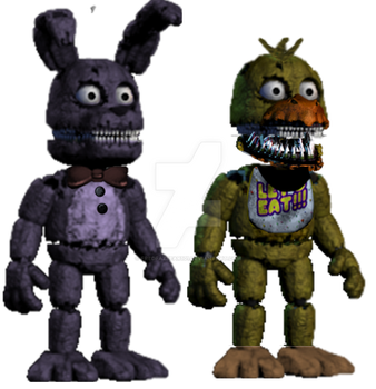 Original Withered Toy Phantom Nightmare Jack O Funtime Candy The Cat