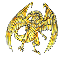 Winged-Dragon of Ra by Mademoiselle-Falki