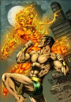 Namor vs Torch by MARCIOABREU7