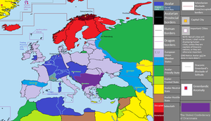 Draconic Europe Map, 2013 Edition by Ddraigtanto