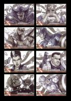 Captain America Sketchcards 4 by Guy-Bigbelly