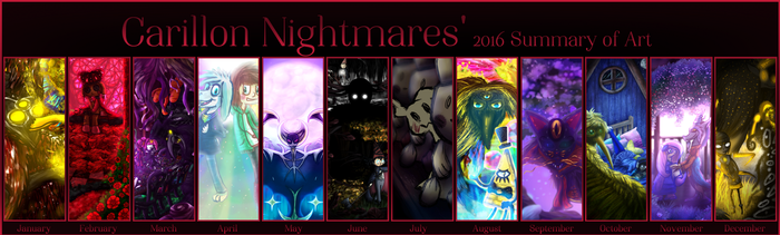 2016 Summary Of Art by CarillonNightmares