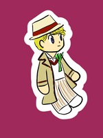 Fifth doctor chibi by TartineChocolat