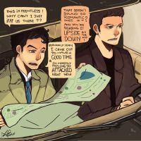 Destiel first date by camelliabei