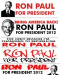 Ron Paul sticker templets by EBrummer