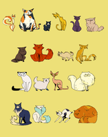some freaking cats by fishbot