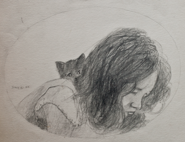 Annie with Kitten by hank1