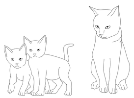Cat Lineart by dibandgazbrothersis