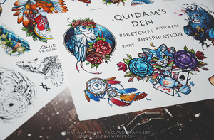 Stickers PACK #1 by quidames