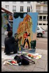 Painter in the street, Paris by SuBWaReZ