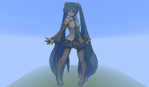 Miku Hatsune in Minecraft by Timo0041
