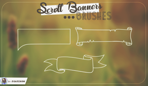 Scroll Banners Brushes by RoaringWindd