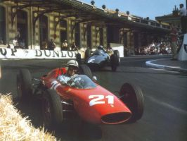 John Surtees | Graham Hill (Monaco 1963) by F1-history