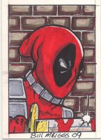 Dead Pool sketchcard by billmeiggs