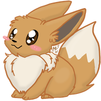 Chibi Eevee :v2: by AppleDew