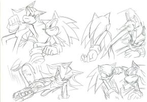 Sonic vs Shadow:Practice by maruringo