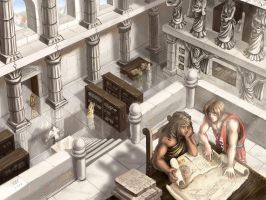Studying Ancient Writings by Maxa-art