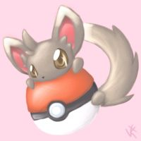 Pokemon Paint - Minccino by KirbyAustria