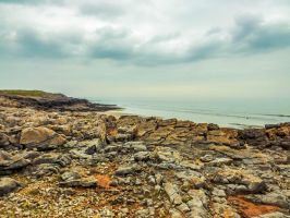 Overcast Skies Overlooking Rest Bay March 2012 by welshrocker