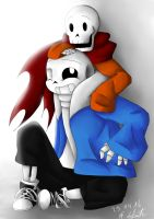 Bone Brothers Sans and Papyrus by Snilaze