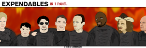 The Expendables in 1 Panel by Cilmeron
