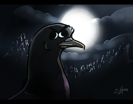 PIGEON OF THE NIGHT by GHushpuppy