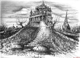mansion in darkness by inkinblood