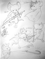 Mouse Guard Lineup by MeecesMikMouse
