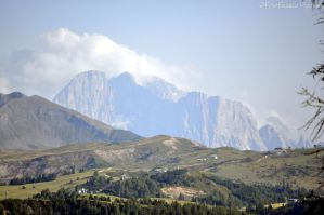 Mount Civetta in the clouds by lailalta