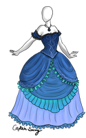 Water n Ruffles dress Adoptable SOLD by Captain-Savvy