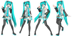 Hatsune miku poses Download pack 2 by Sateraido