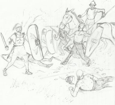 Victory on woad-sketch by B4LD3R