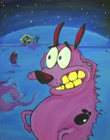 Courage the cowardly dog by xxsatur9xx