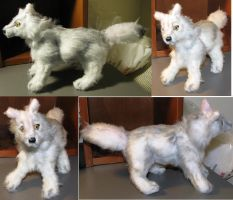 White Wolf Plush Revamp by Jarahamee
