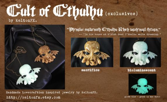 Cult of Cthulhu Jewelry (Exclusives) by KeltonFX by keruuu