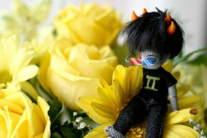 Sollux and flowers by PyxEstyxMajik