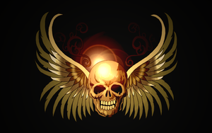 Skull- Wallpaper by 8i-Emmz-i8