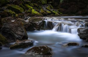 Stream in valley by dinco1