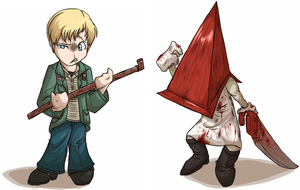 James 'n' Pyramid Head by Dezfezable