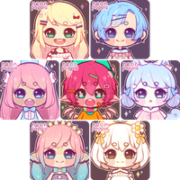 Potato Chib Icons 1 by neonpoppie