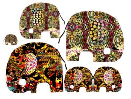 Psychedelic Elephant Stock by OneSmallSquare