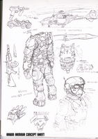Ragon Combat Armour concept sheet by NikkoJT
