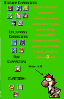 Mario Kart DS Character Selection Screen Rips by babyluigi957