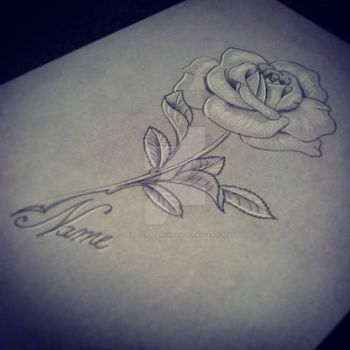 Rose Tattoo Pretty Grotesque by heartsandanchors