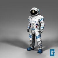 Space suit beauty by christianthomas3d