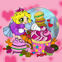 Sweets decorated by frosting fairy by crochetamommy